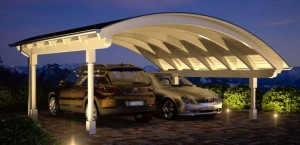 Bogendach Doppelcarport Bausatz