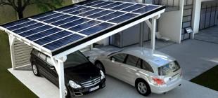 Solarcarport Doppelcarport Bausatz
