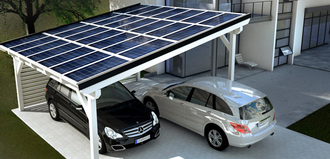 solarcarport bausatz als fertigcarport online bestellen carport mit solaranlage. Black Bedroom Furniture Sets. Home Design Ideas