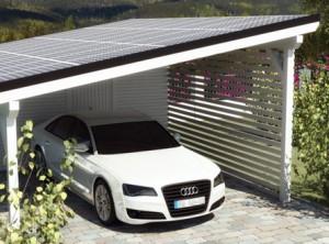 Solarcarport Einzelcarport Bausatz