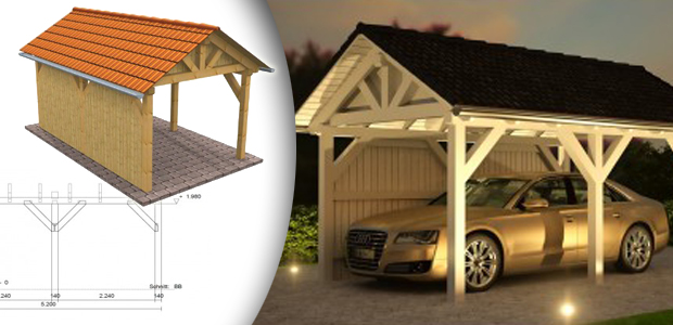 einzelcarport doppelcarports baus tze aus holz metall attachment. Black Bedroom Furniture Sets. Home Design Ideas