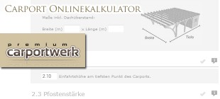 Carport Kalkulator online