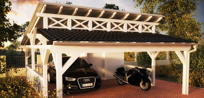 einzelcarport doppelcarports baus tze aus holz metall pultdach doppelcarport bausatz. Black Bedroom Furniture Sets. Home Design Ideas