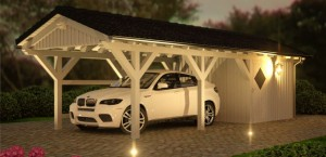 einzelcarport doppelcarports baus tze aus holz metall spitzdach carport. Black Bedroom Furniture Sets. Home Design Ideas